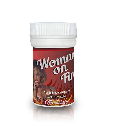 Afrodisíaco Femenino Woman On Fire con 10 Cápsulas