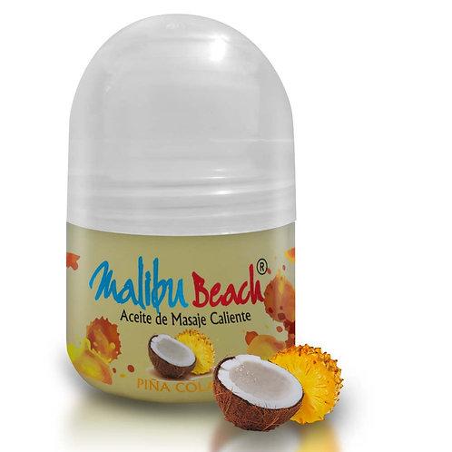 Aceite Caliente para Masajes MalibuBeach Hot de Piña Colada 30 g