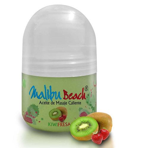 Aceite Caliente para Masajes MalibuBeach Hot de Kiwi Fresa 30 g