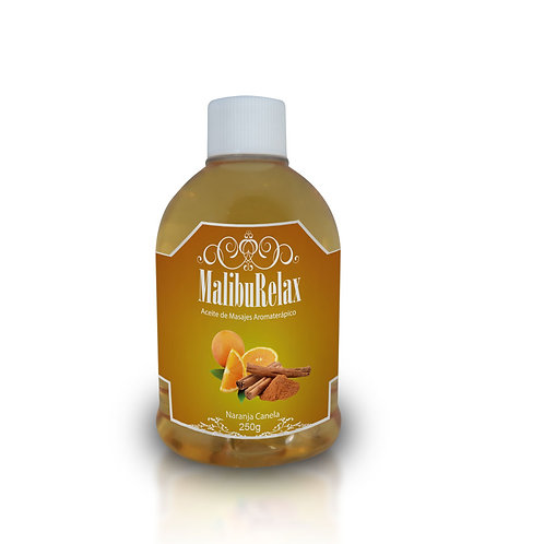 Aceite para Masajes Aromaterápico MalibuRelax Aroma Naranja Canela 100 g