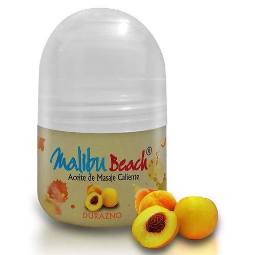 Aceite Caliente para Masajes MalibuBeach Hot de Durazno 30 gd