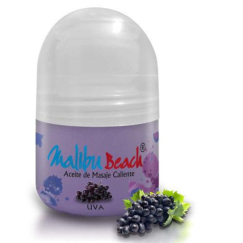 Aceite Caliente para Masajes MalibuBeach Hot de Uva 30 g
