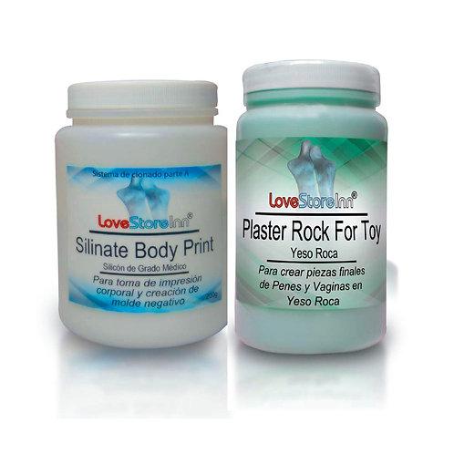 Clona tu Pene en Plaster Rock Sistema para clonar el pene Pieza Final en Yeso Ro