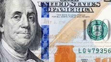Penerima Mendapat :     USD $100