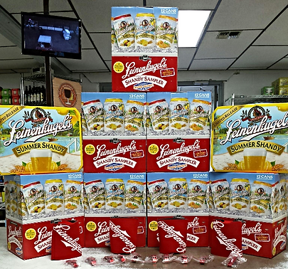 Riverhead Beverage Leinenkugel's display
