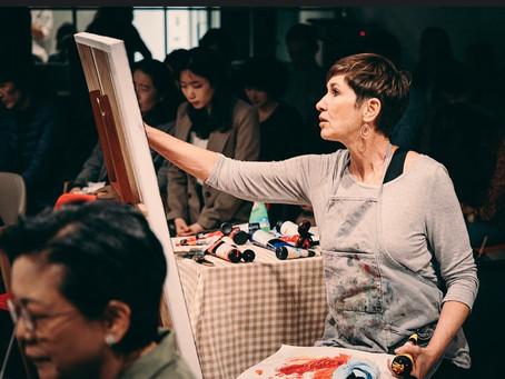 Painting in Seoul, Korea October 2019!