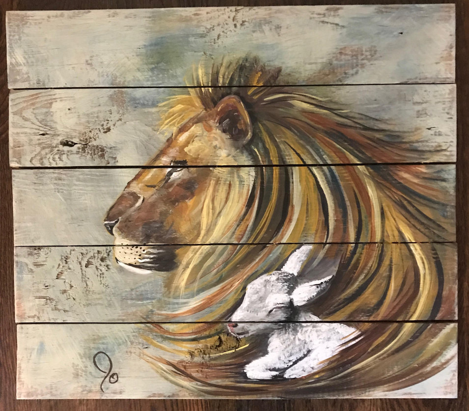 Lion and Lamb - SOLD