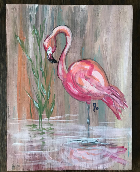 Pink Flamingo - SOLD