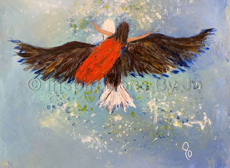 """On the Wings of an Eagle"" - Painted 8/25/19 at the North Ga Revival in Dawsonville, GA"