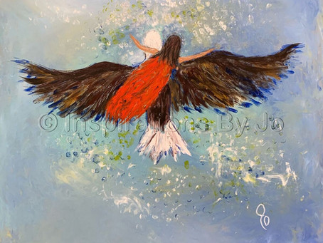"""""""On the Wings of an Eagle"""" - Painted 8/25/19 at the North Ga Revival in Dawsonville, GA"""