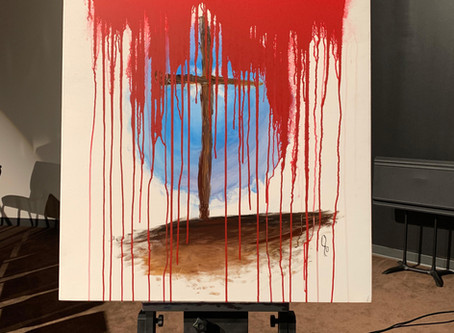 Jesus' Blood Changes Everything was painted 8/11/19 at the North Georgia Revival in Dawsonville, Ga.