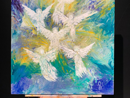 """""""Angel Band"""" - Painted at His Flowing Oil in Dalton, GA"""