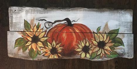 Pumpkin 'n Sunflowers - SOLD