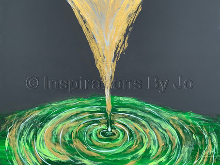 """""""Ripple Effect"""" - Painted 8/13/19 at His Flowing Oil in Dalton, Ga"""