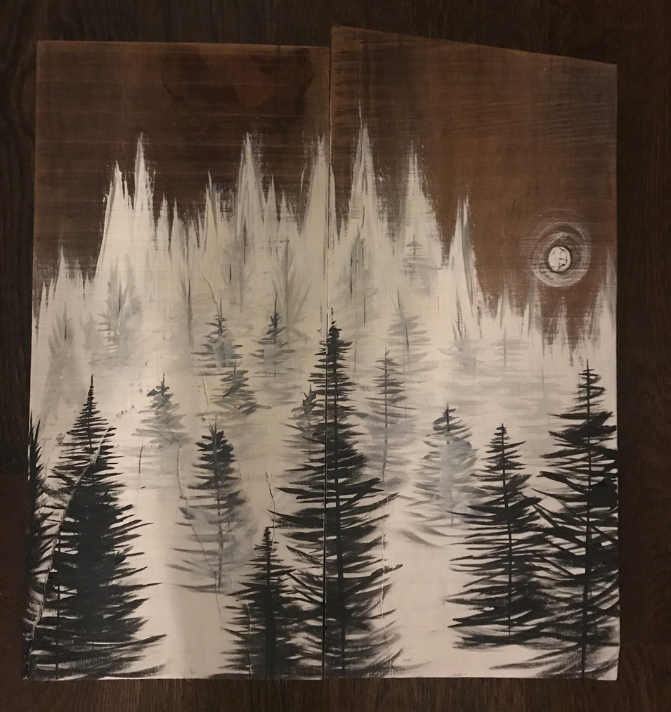 Misty Pines in Moonlight - SOLD