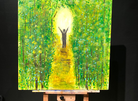 """Light my Path"" - Painted at His Flowing Oil in Dalton, GA"