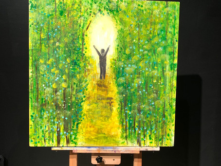 """""""Light my Path"""" - Painted at His Flowing Oil in Dalton, GA"""