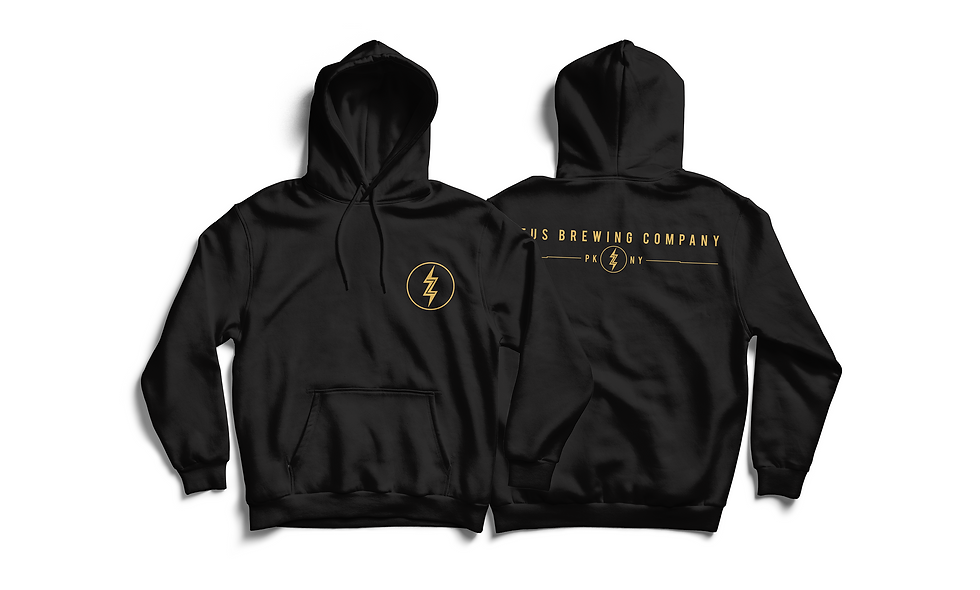 Black & Gold Pullover Hoodie
