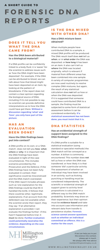 Short Guide to Forensic DNA Reports
