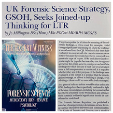 Article on Forensic Science Strategy