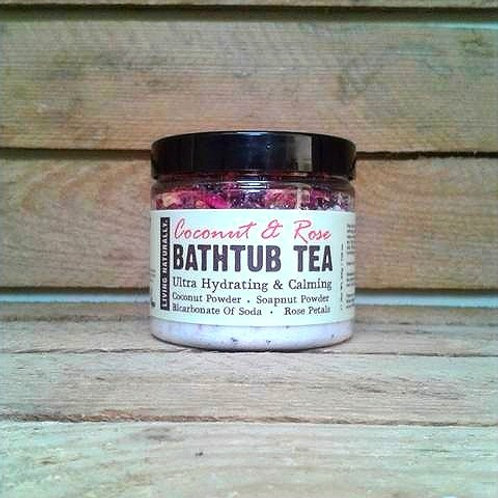 Living Naturally - Bathtub Tea Coconut & Rose 200g