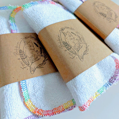 Fox & Bobbin Bamboo Cloth Baby Wipes - Set of 5