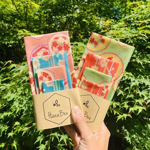 HanaBee Beeswax Wraps Set Of 4