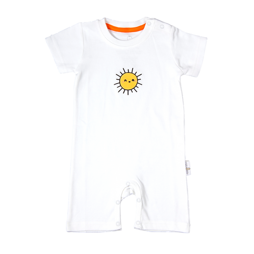 flaww talula little white romper with sun embroidered