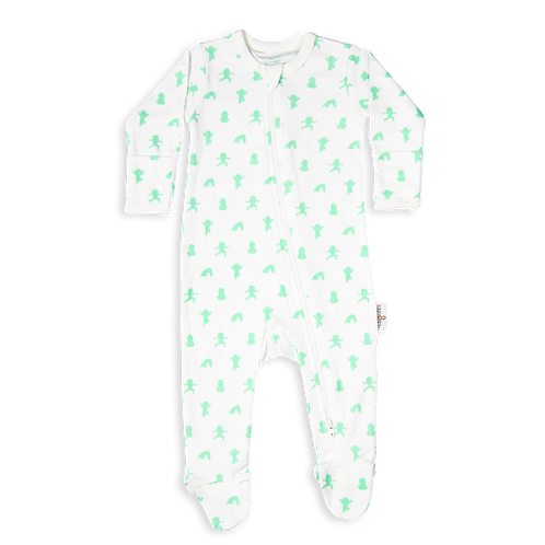 flaww talula little white mint sleepsuit