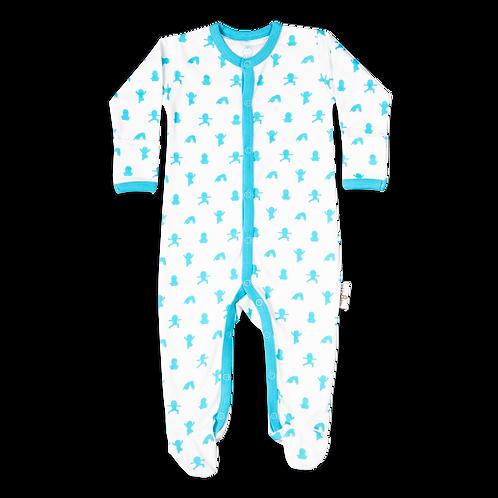 flaww talula little blue and white sleepsuit
