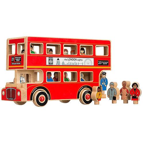 Lanka Kade Playset - Wooden Deluxe London Bus