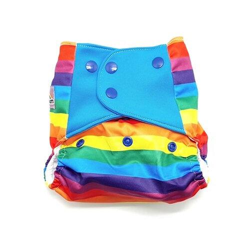 Flaww - Little Lovebum Pocket nappy reusable cloth nappy stormborn rainbow print