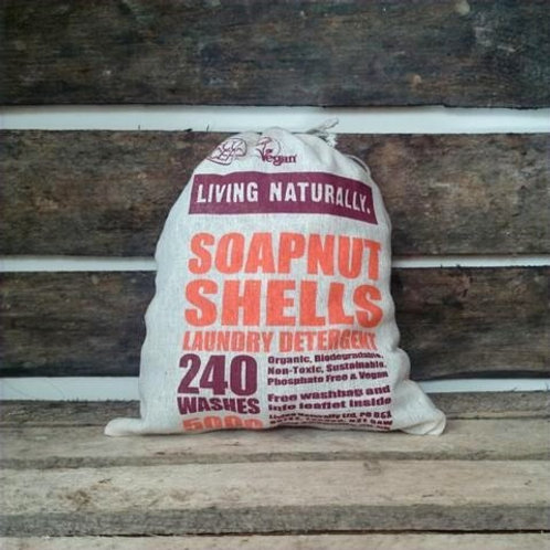 Living Naturally - Organic Soapnuts 500g With Storage Bag - 240 Washes