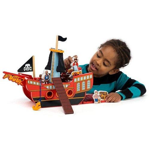 Lanka Kade Playset - Wooden Pirate Ship