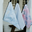 bare and boho hanging wet bags medium sized pretty floral bags