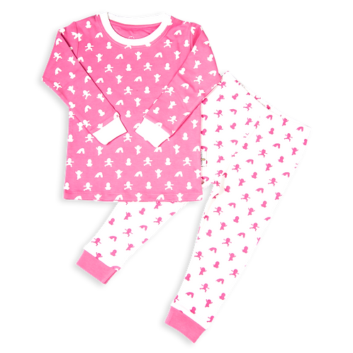flaww talula little pink and white pjs