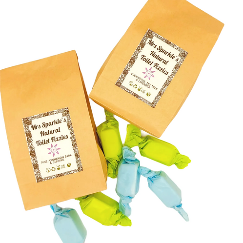 Natural Toilet Fizzies Pack of 14 - Mrs Sparkle's