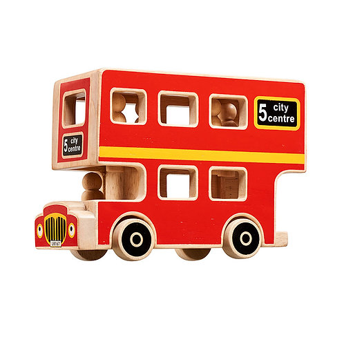 Lanka Kade Playset - Wooden City Bus