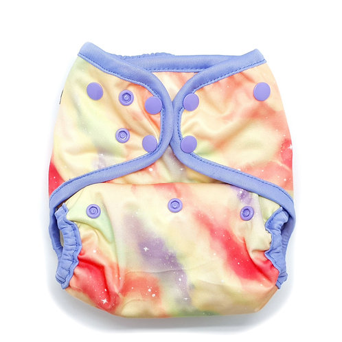 little lovebum everyday aio reusable cloth nappy all in one absorbent for baby genesis pastel pink galaxy