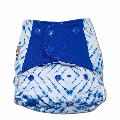 Flaww - Little Lovebum Pocket nappy reusable cloth nappy indie blue tye dye print