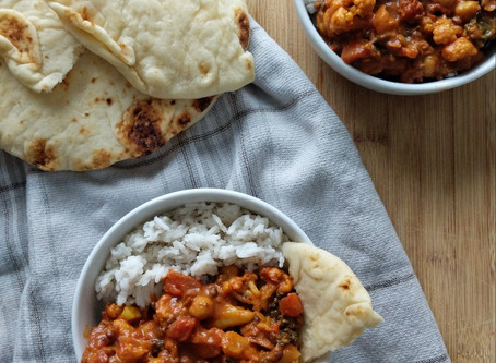 Cauliflower Curry with Coconut Rice