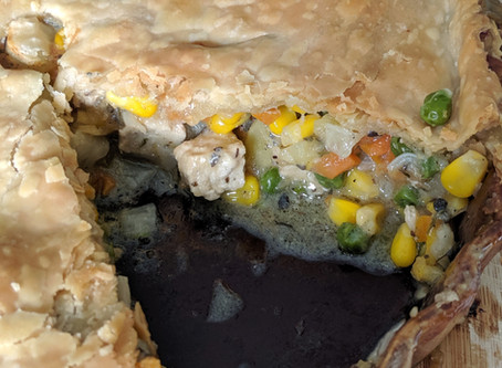 "Vegan ""Chicken-Chicken Pie-Pie"""
