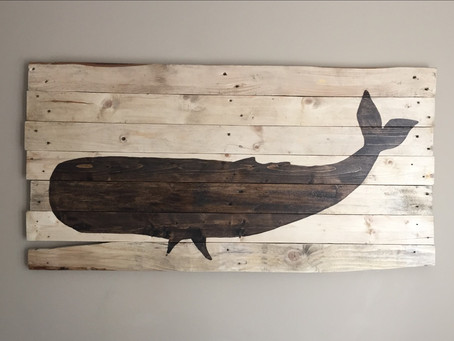 Coastal Whale Wall Art