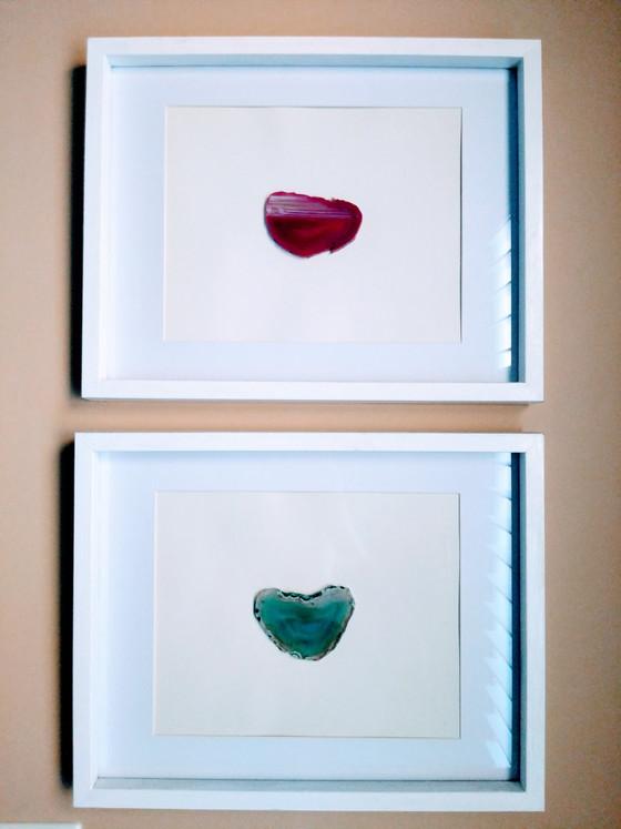 Framed Agate Slices