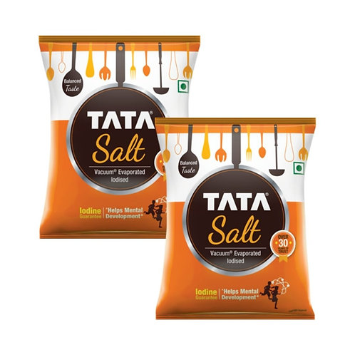 Tata Salt Pack Of 2 - 1Kg
