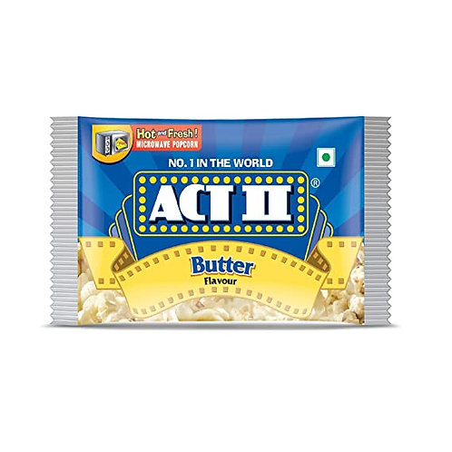 ACT II Microwave Popcorn Butter, 3 N (99 g Each)