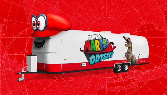 Mario season begins, as he journeys across the country to celebrate the launch of Super Mario Odysse