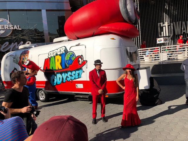 Mario Odyssey revealed to the world at Los Angeles Universal City Walk!