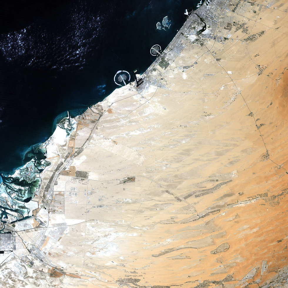 Satellite View of Dubai UAE