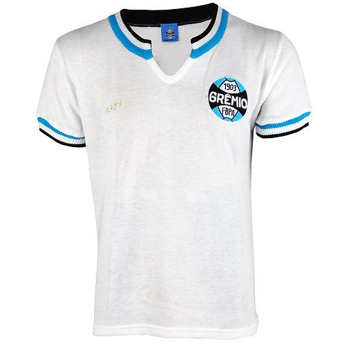 G468 Camisa Retro do Grêmio Masculino Branco ano 1981 Nº 9